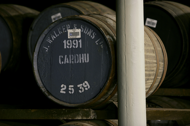 Cardhu whisky cask, image courtesy of Diageo Plc