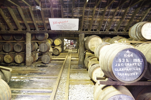 Ex-sherry casks maturing at Glenfarclas distillery