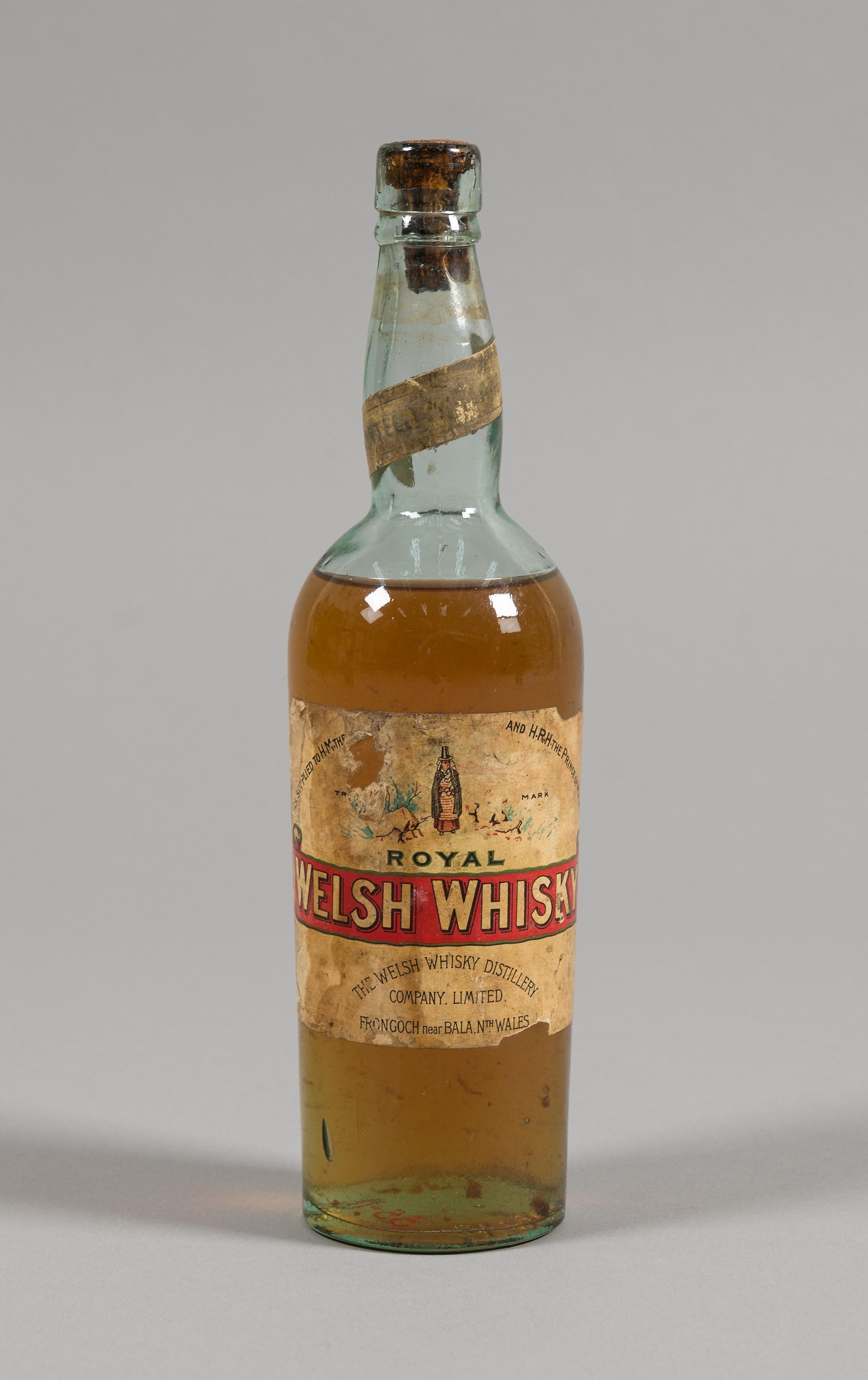 Royal Welsh whisky bottle