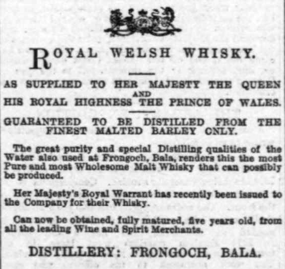 Royal Welsh & Royal Warrant, 1896