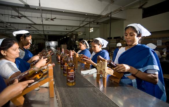 Amrut's production at Kambipura, just outside Bangalore