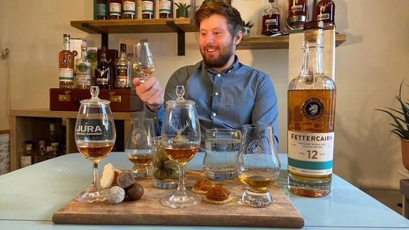 Taking tastings online: Andrew Lennie, Fettercairn brand specialist at Whyte & Mackay