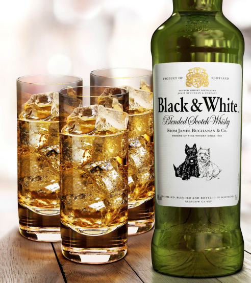Diageo's Black & White, starring a Scottie and a Westy