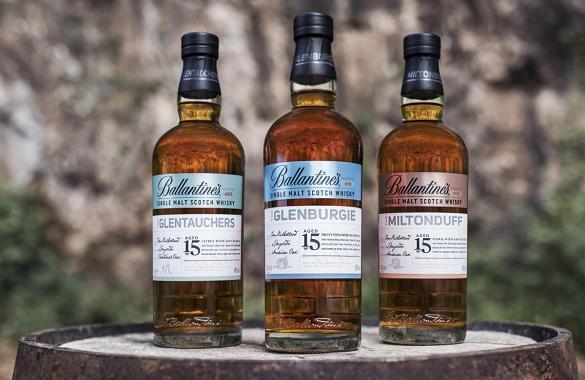 Blurring the distinction: Single malts from big-name blended brand Ballantine's