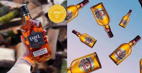 French favourite Label 5 and world No.4 (currently) Chivas Regal