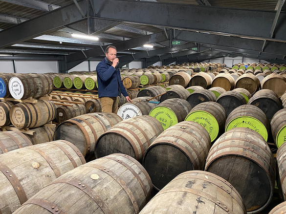 Alex Bruce at Adelphi's Ardnamurchan Distillery
