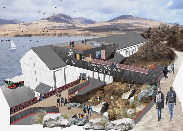 Caol Ila, part of Diageo's £185m spend on tourist facilities at Johnnie Walker's key malt distilleries