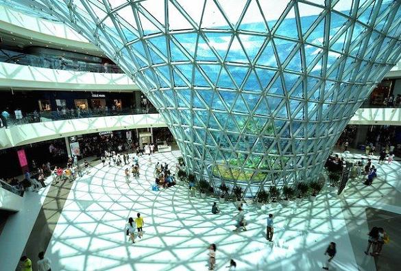 The biggest duty-free shop in the world: CDF Mall, Sanya, Haitang Bay, Hainan Island