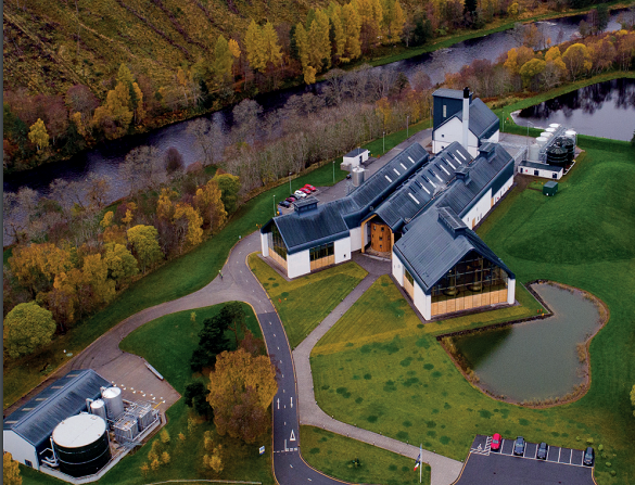 Chivas Brothers' Dalmunach distillery, which opened in 2015 and has pioneered green technologies. Source: SEPA