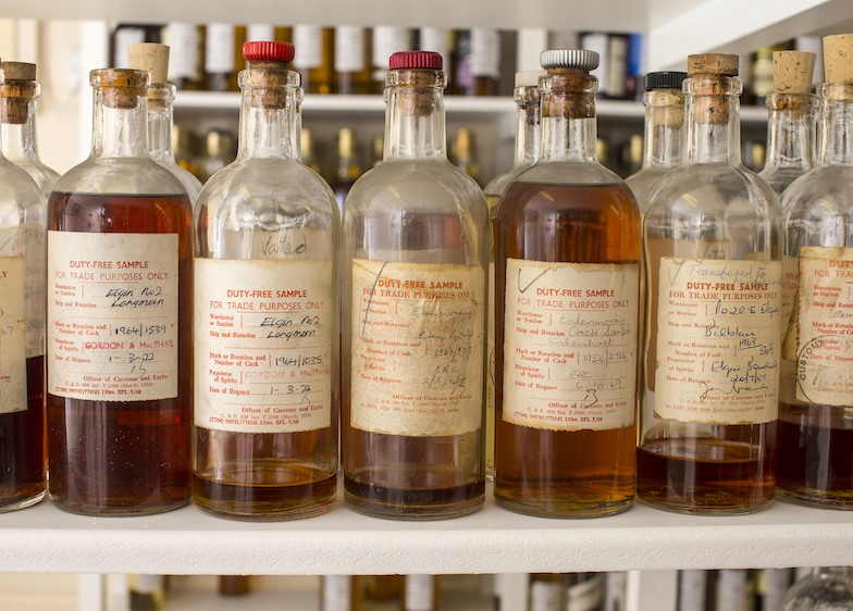 Gordon & Macphail's whisky samples from the 1960s