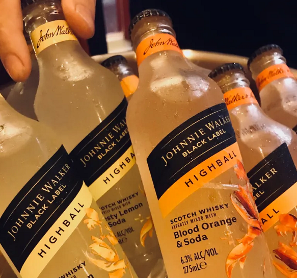 A different kind of cold one: Johnnie Walker Highballs