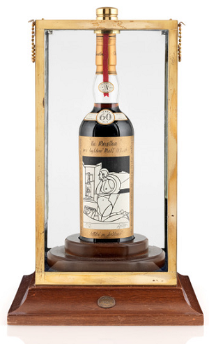 The Macallan Valerio Adami 1926 60-year old, sold at Bonhams Whisky Sale in Edinburgh, October 2018 for a (then) new world record of £848,750
