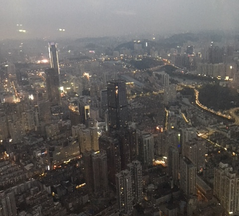 View from Shenzhen's St.Regis Bar, nearly as high as the prices