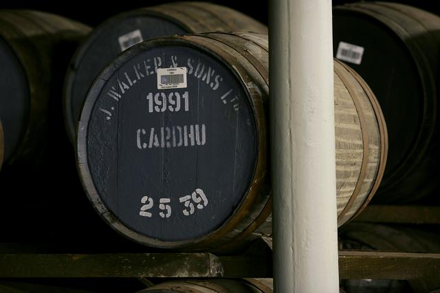 Cardhu whisky cask, image courtesy of Diageo Plc
