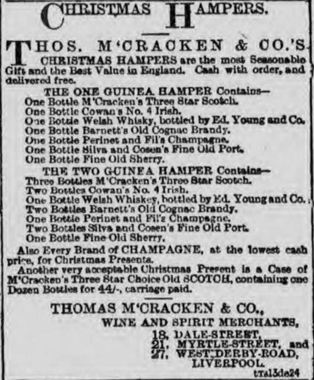 Welsh Whisky Christmas Hamper, 1892